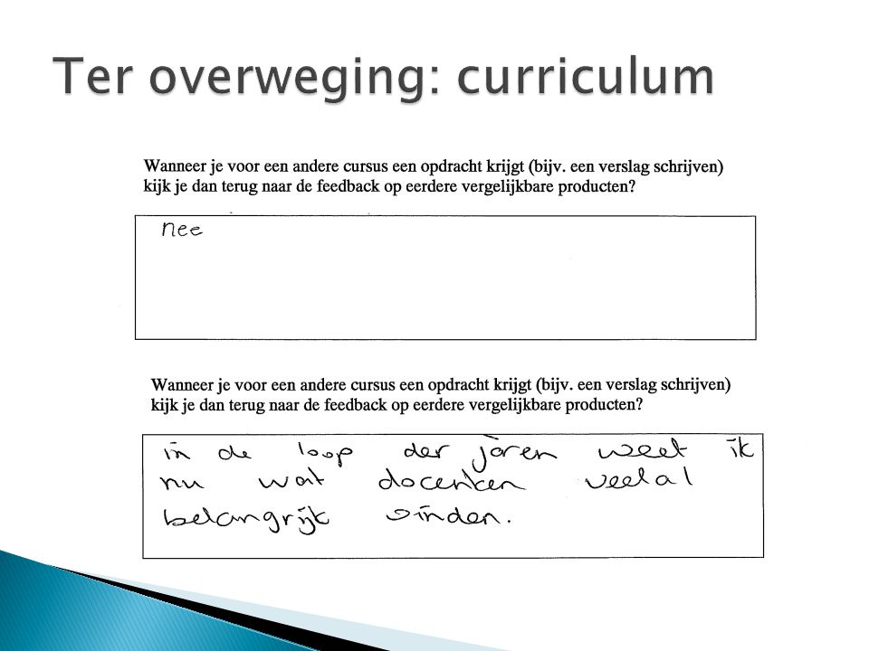 Ter overweging: curriculum