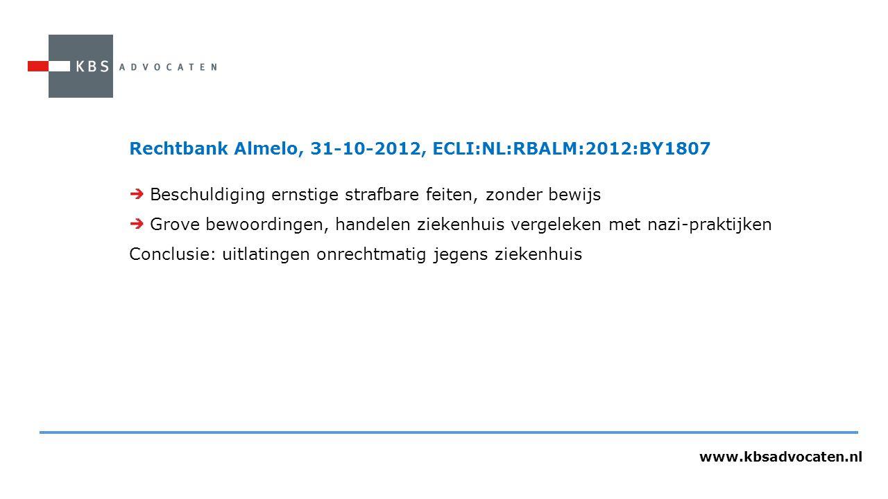 Rechtbank Almelo, 31-10-2012, ECLI:NL:RBALM:2012:BY1807