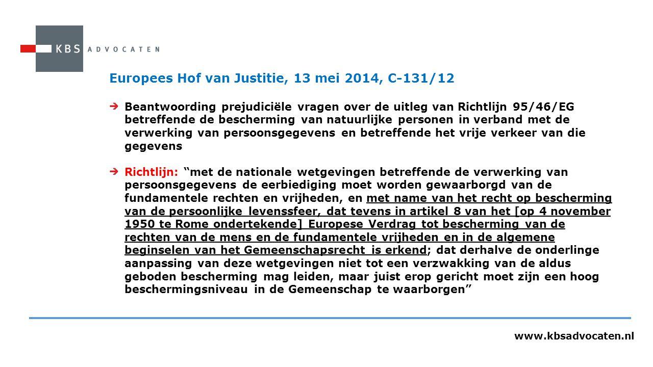 Europees Hof van Justitie, 13 mei 2014, C-131/12
