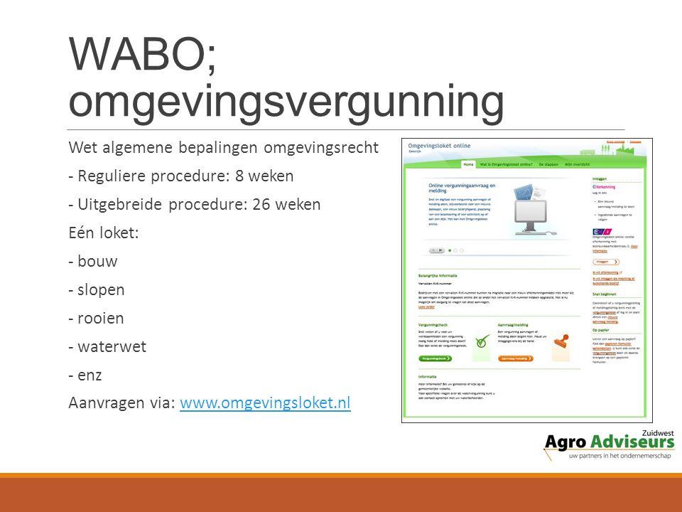 WABO; omgevingsvergunning