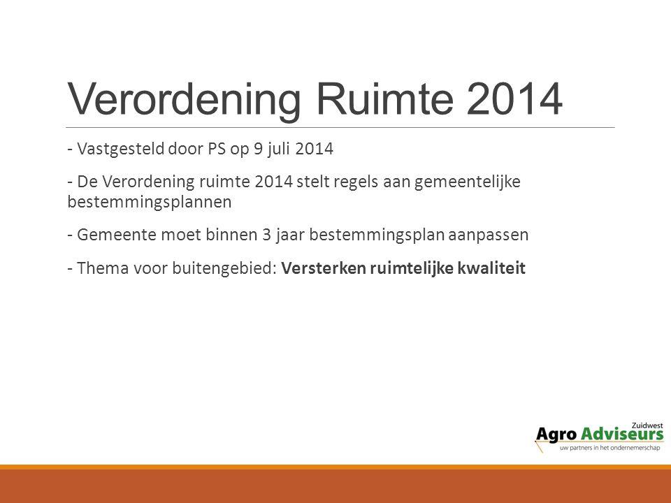 Verordening Ruimte 2014 - Vastgesteld door PS op 9 juli 2014