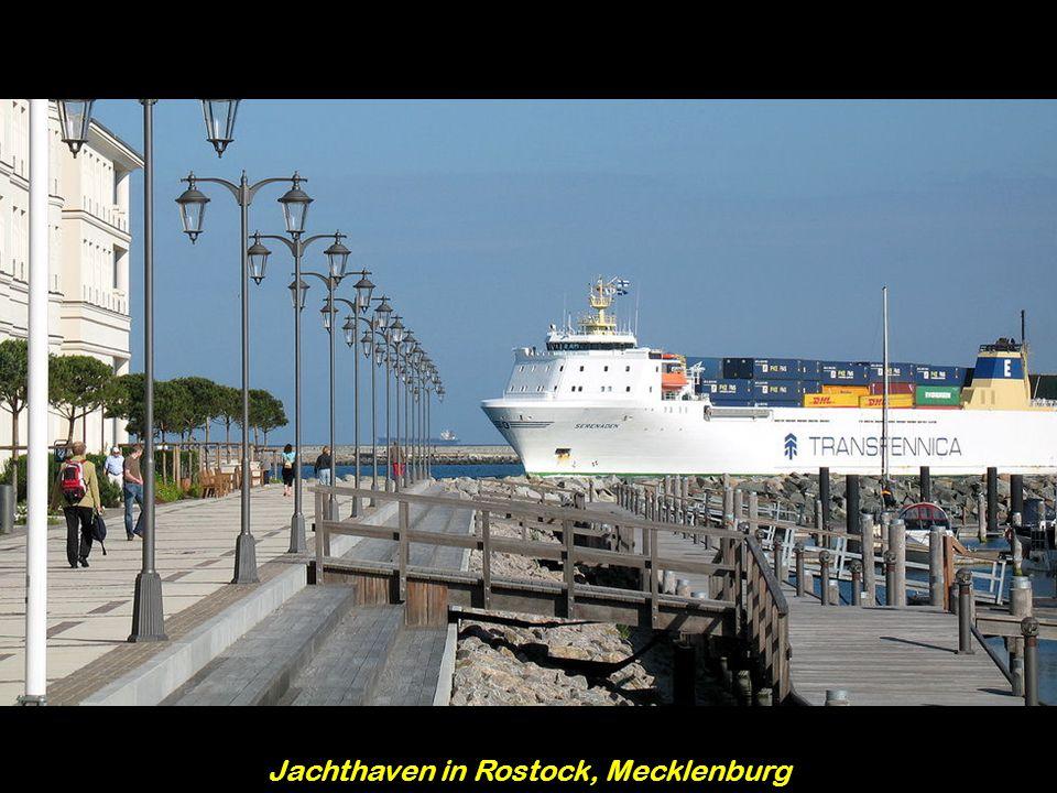 Jachthaven in Rostock, Mecklenburg