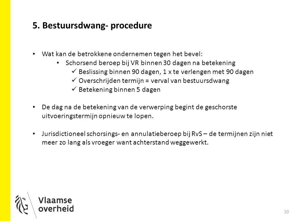5. Bestuursdwang- procedure