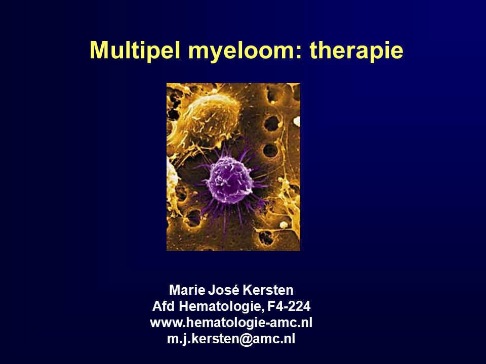 Multipel myeloom: therapie