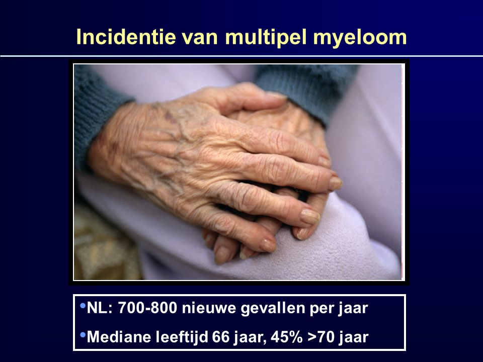 Incidentie van multipel myeloom