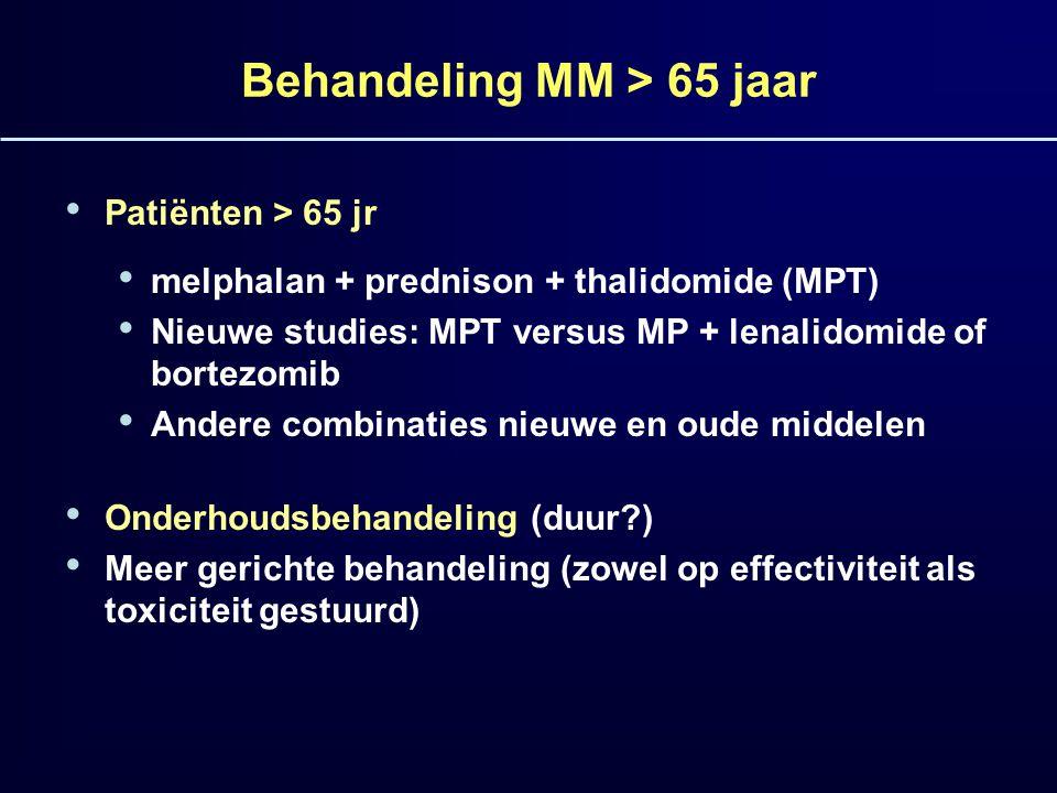 Behandeling MM > 65 jaar