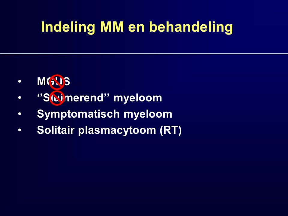 Indeling MM en behandeling