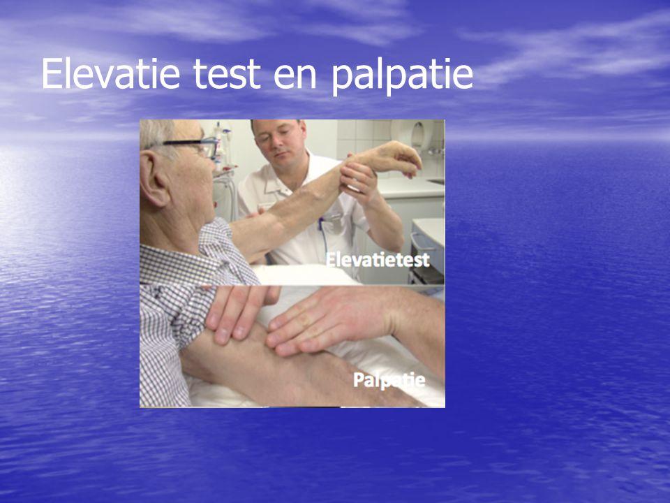 Elevatie test en palpatie