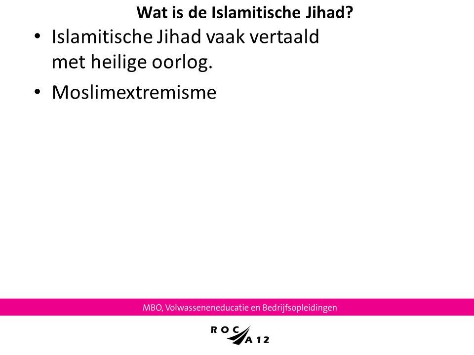 Wat is de Islamitische Jihad
