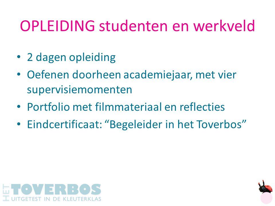 OPLEIDING studenten en werkveld