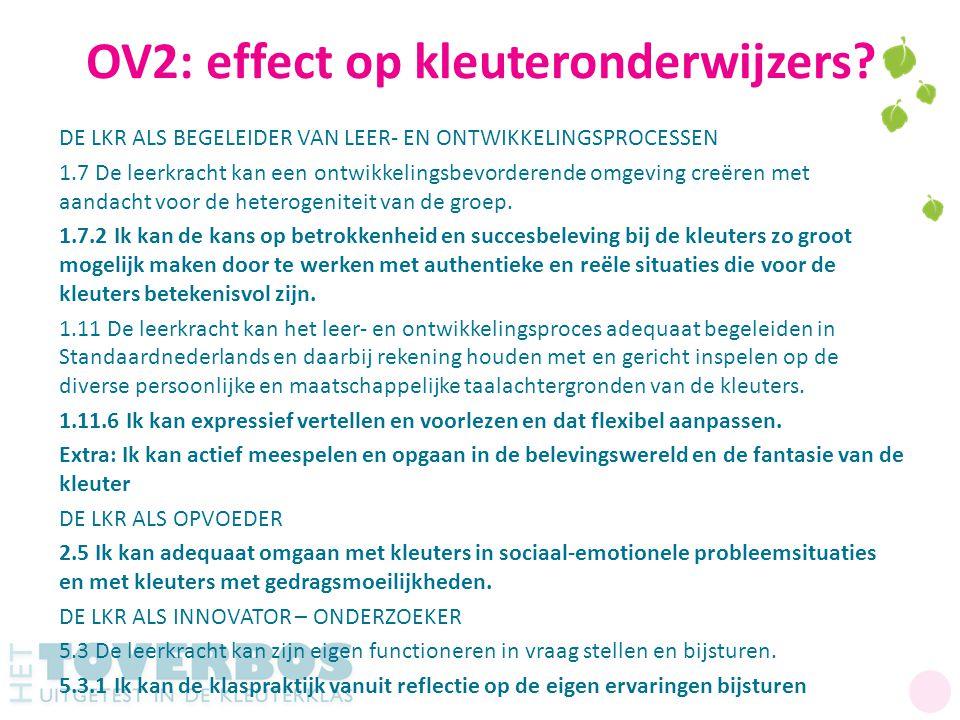 OV2: effect op kleuteronderwijzers