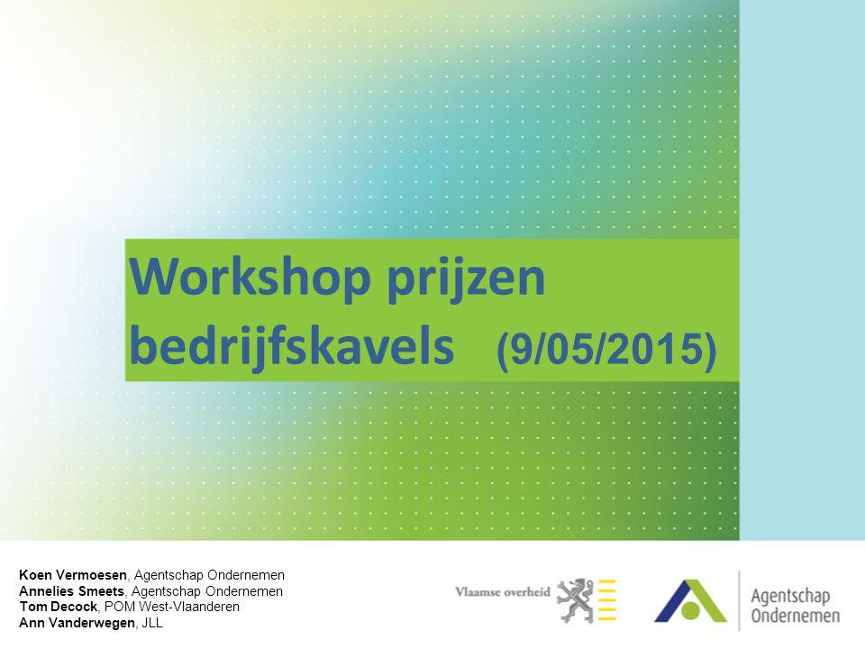 Workshop prijzen bedrijfskavels (9/05/2015)