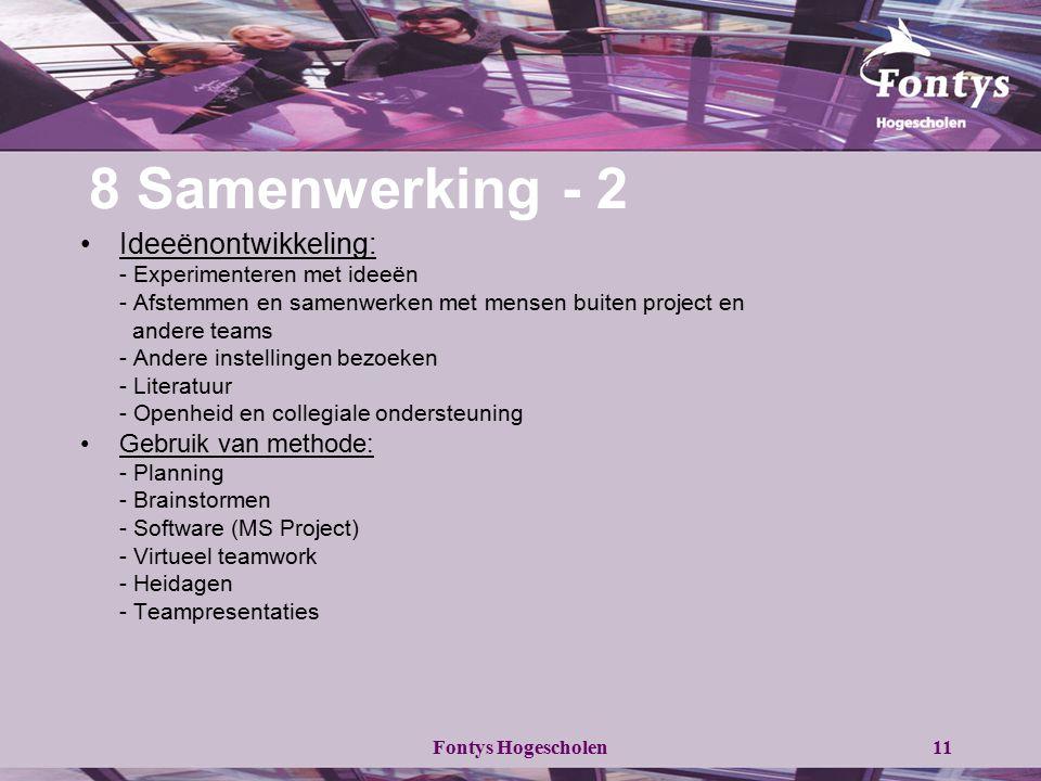 8 Samenwerking - 2 Ideeënontwikkeling: Gebruik van methode: