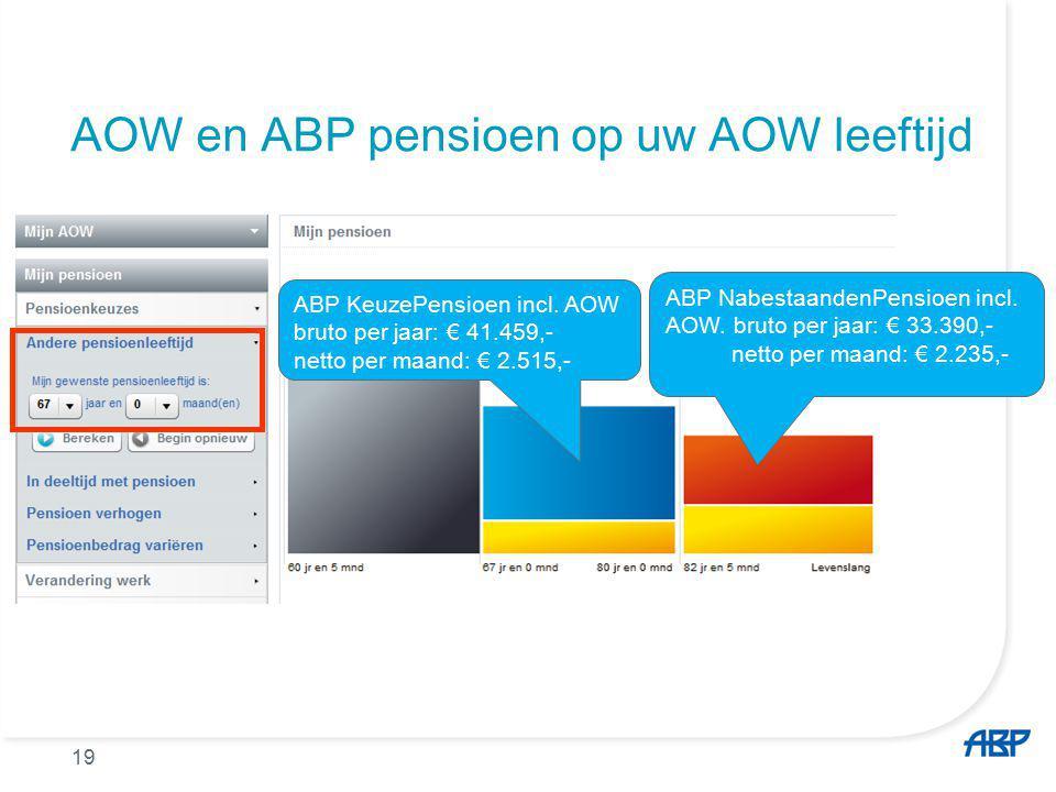 AOW en ABP pensioen op uw AOW leeftijd