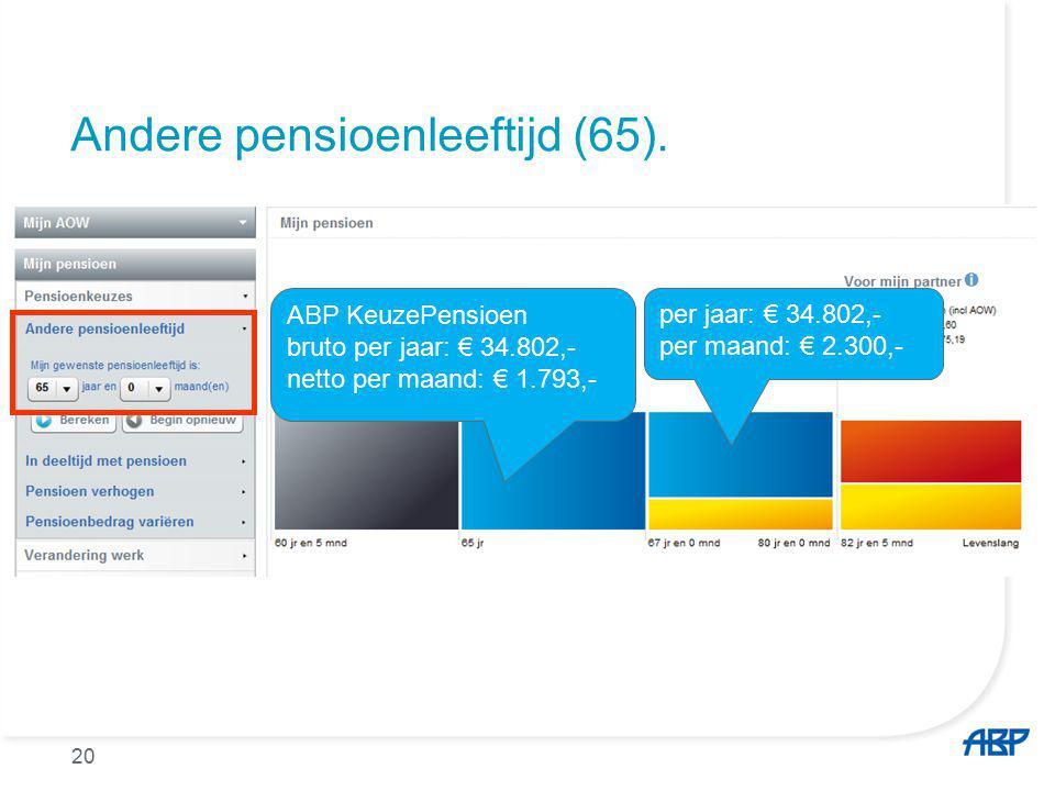 Andere pensioenleeftijd (65).
