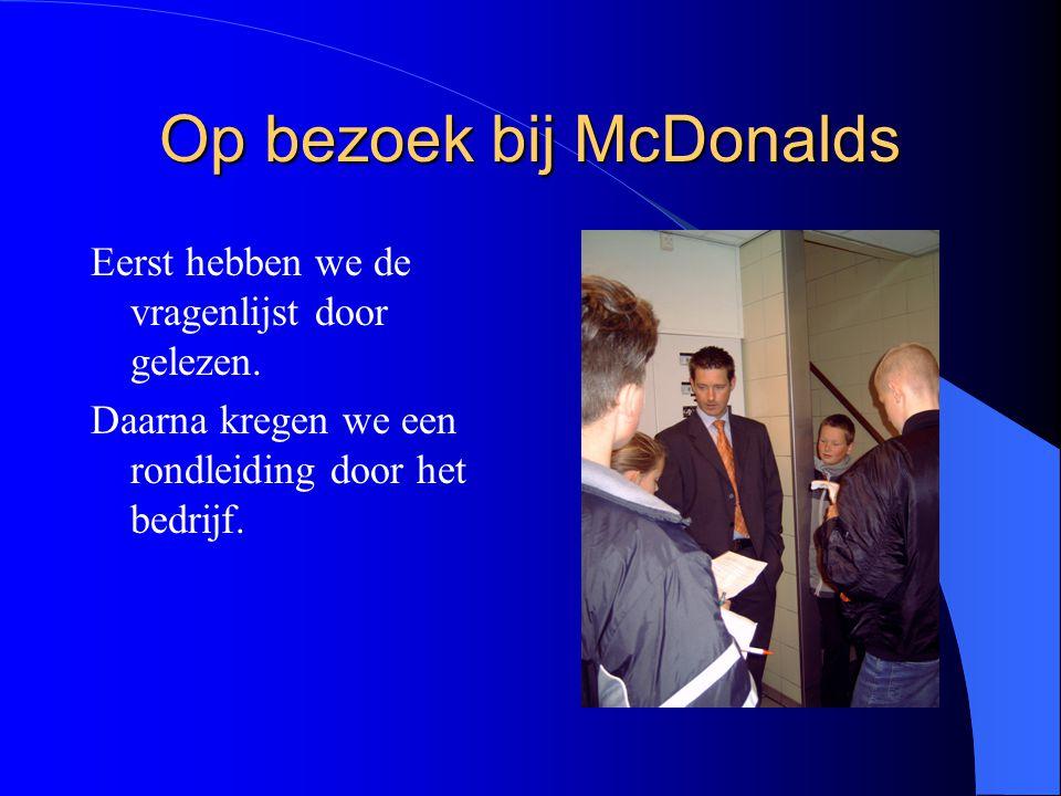 Op bezoek bij McDonalds