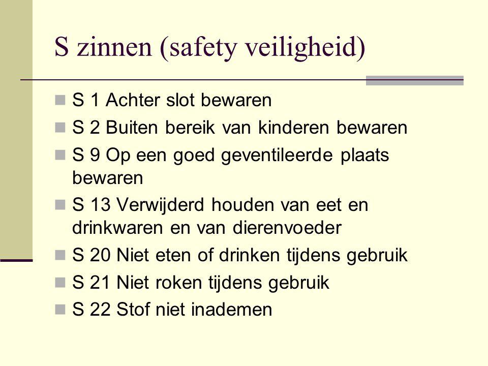 S zinnen (safety veiligheid)
