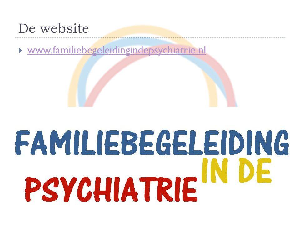 De website www.familiebegeleidingindepsychiatrie.nl