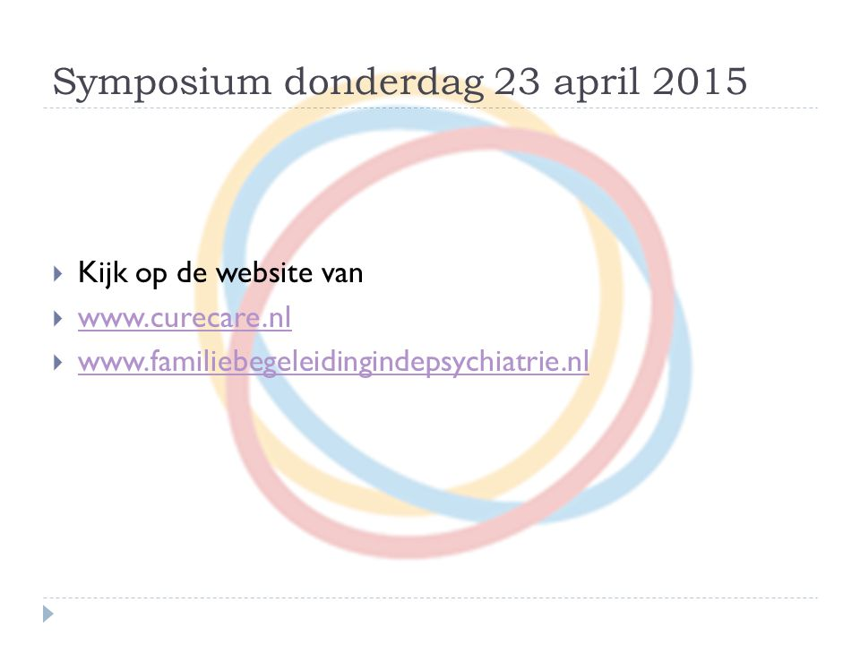 Symposium donderdag 23 april 2015