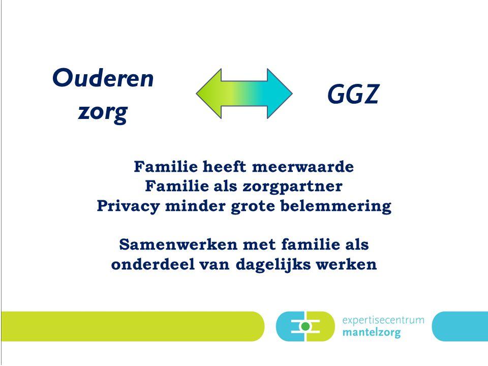 Ouderen zorg GGZ Familie heeft meerwaarde Familie als zorgpartner