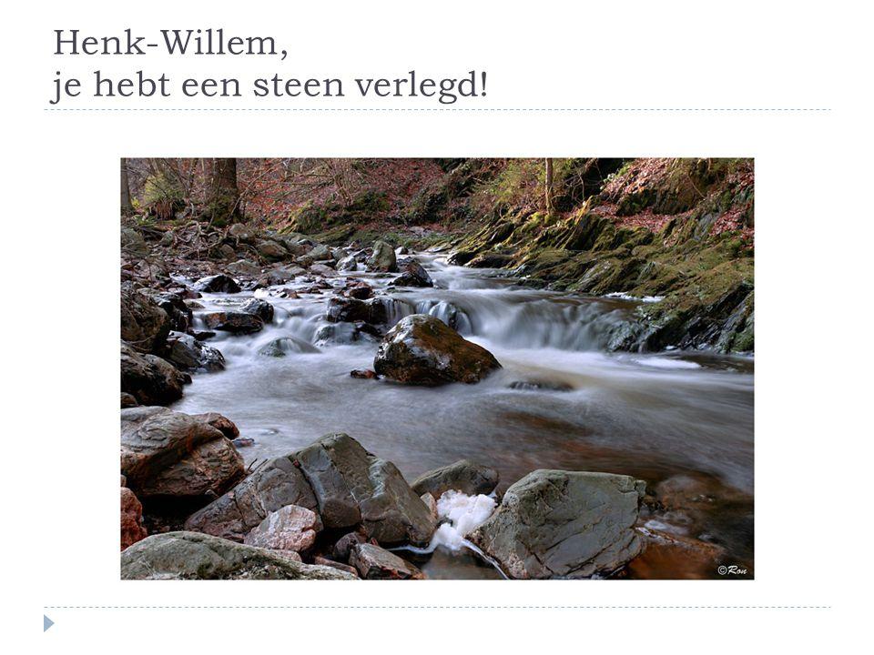 Henk-Willem, je hebt een steen verlegd!