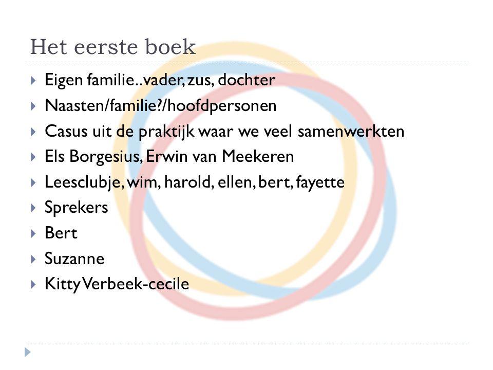 Het eerste boek Eigen familie..vader, zus, dochter