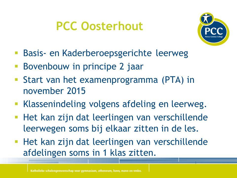 PCC Oosterhout Basis- en Kaderberoepsgerichte leerweg