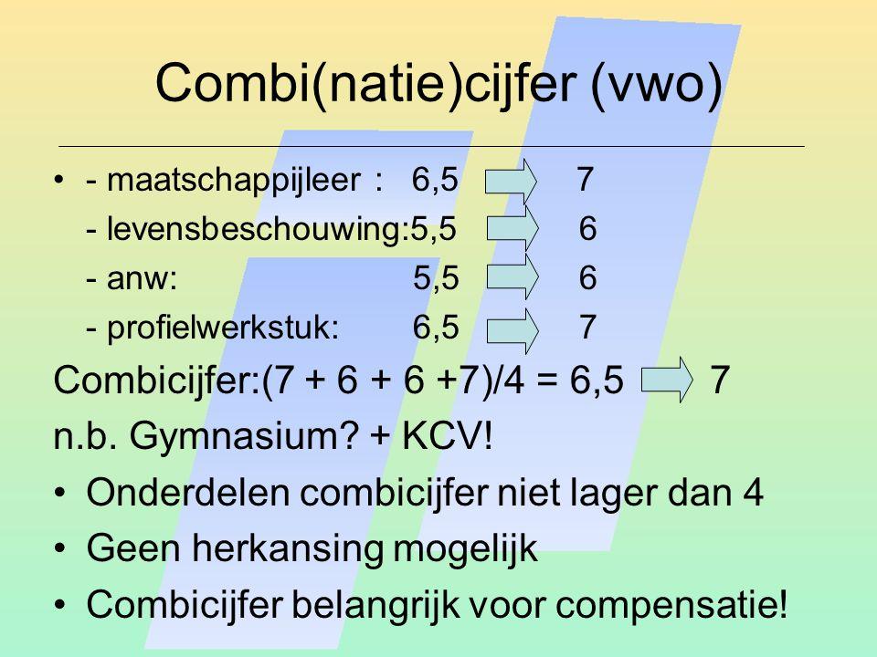 Combi(natie)cijfer (vwo)