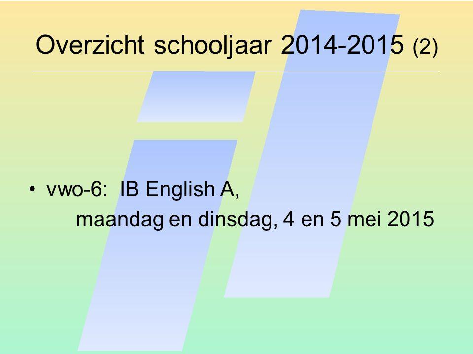 Overzicht schooljaar 2014-2015 (2)