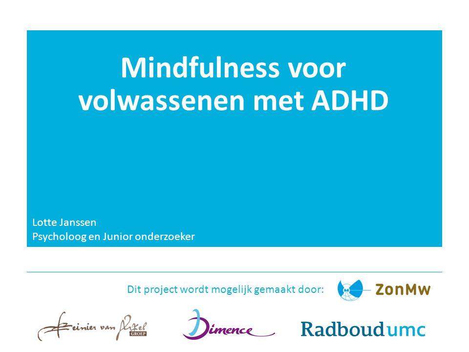 Mindfulness voor volwassenen met ADHD