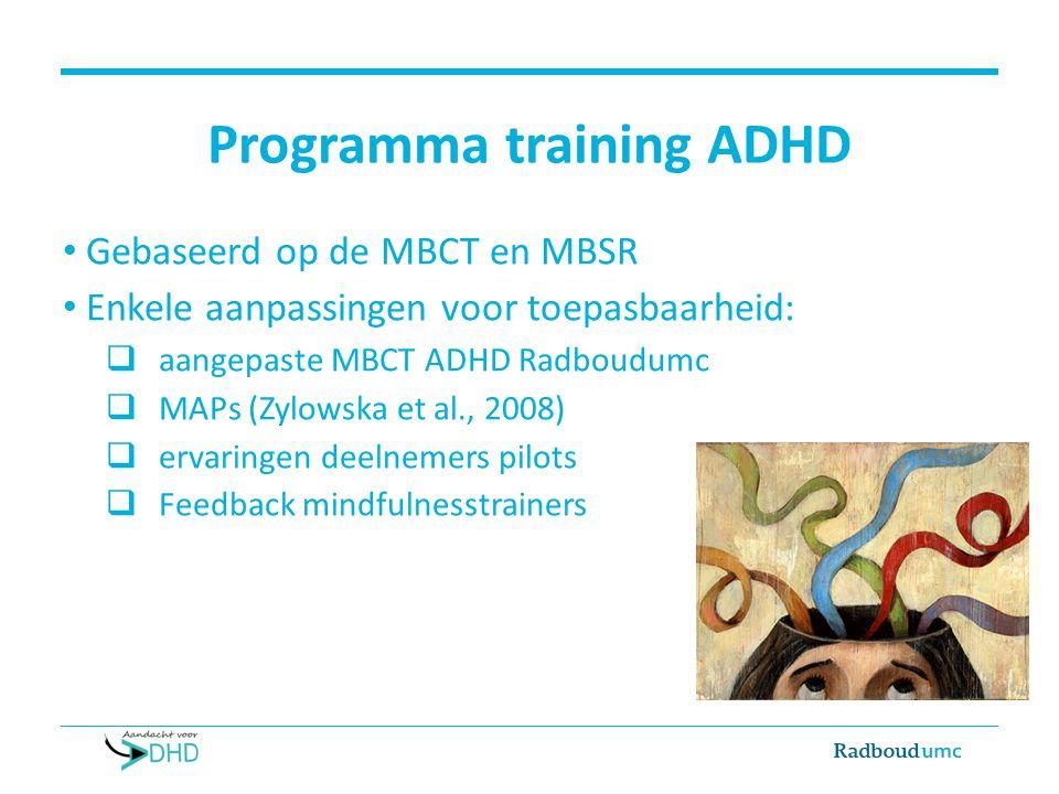 Programma training ADHD