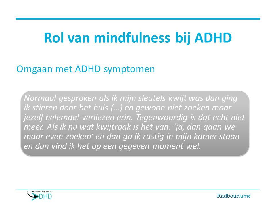 Rol van mindfulness bij ADHD