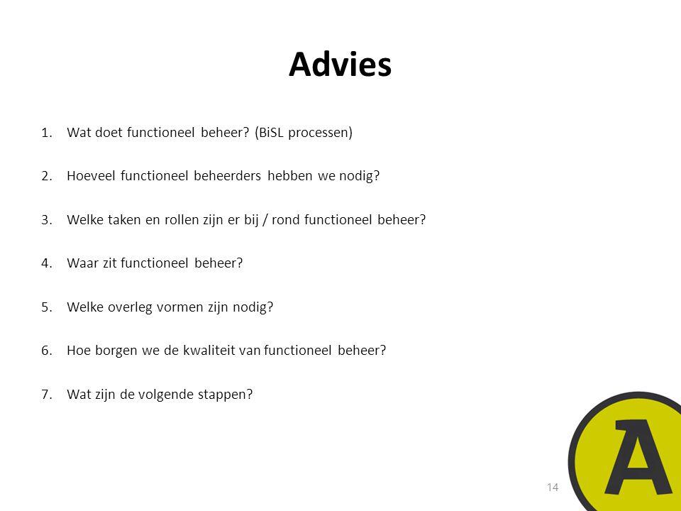 Advies Wat doet functioneel beheer (BiSL processen)