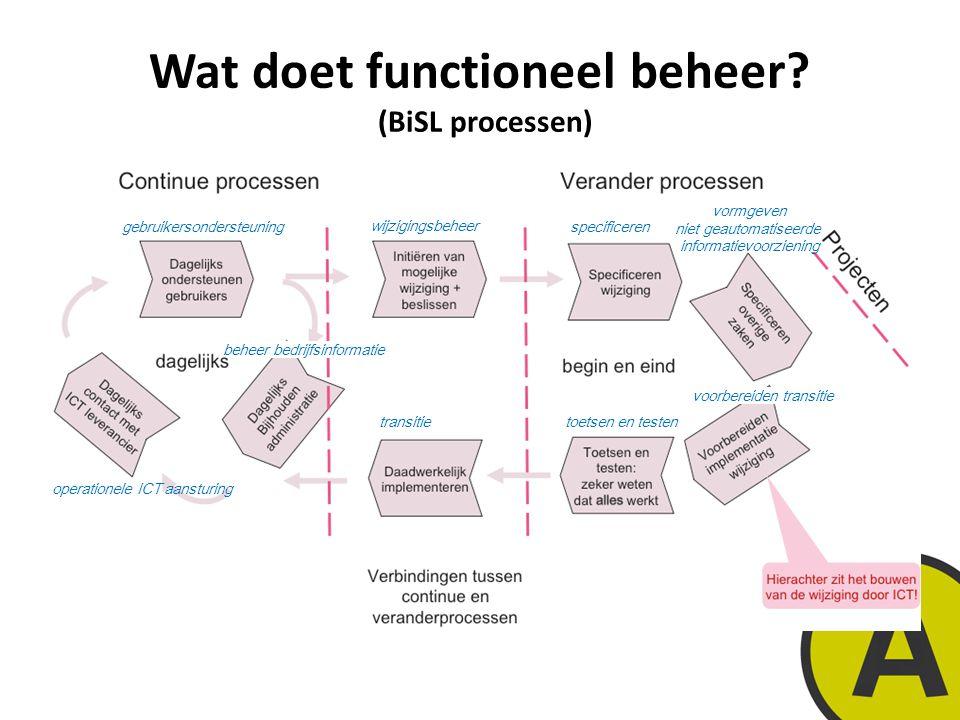 Wat doet functioneel beheer (BiSL processen)