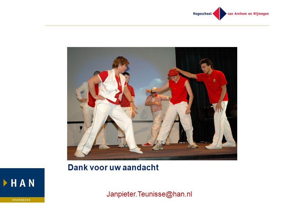Dank voor uw aandacht Janpieter.Teunisse@han.nl