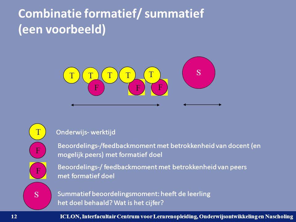 Combinatie formatief/ summatief (een voorbeeld)