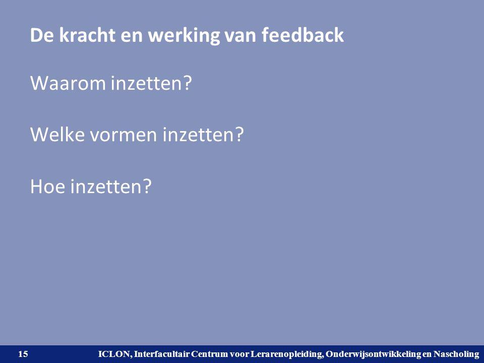 De kracht en werking van feedback