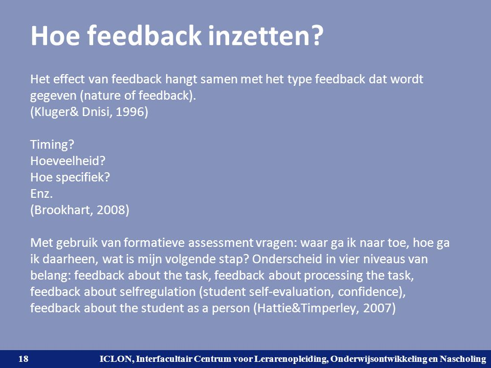 Hoe feedback inzetten