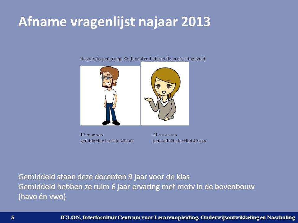 Afname vragenlijst najaar 2013