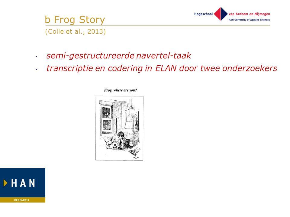 b Frog Story semi-gestructureerde navertel-taak