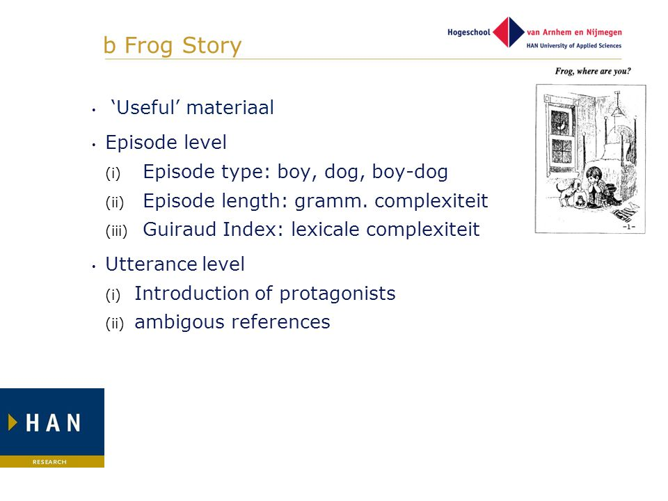b Frog Story 'Useful' materiaal Episode level