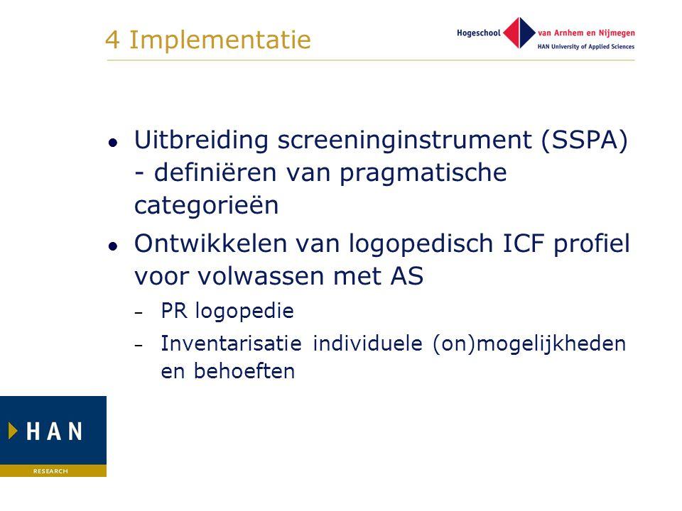 Ontwikkelen van logopedisch ICF profiel voor volwassen met AS