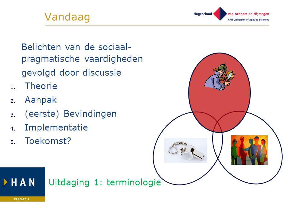 Vandaag Belichten van de sociaal-pragmatische vaardigheden
