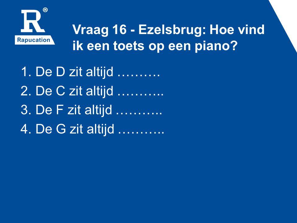 Vraag 16 - Ezelsbrug: Hoe vind ik een toets op een piano
