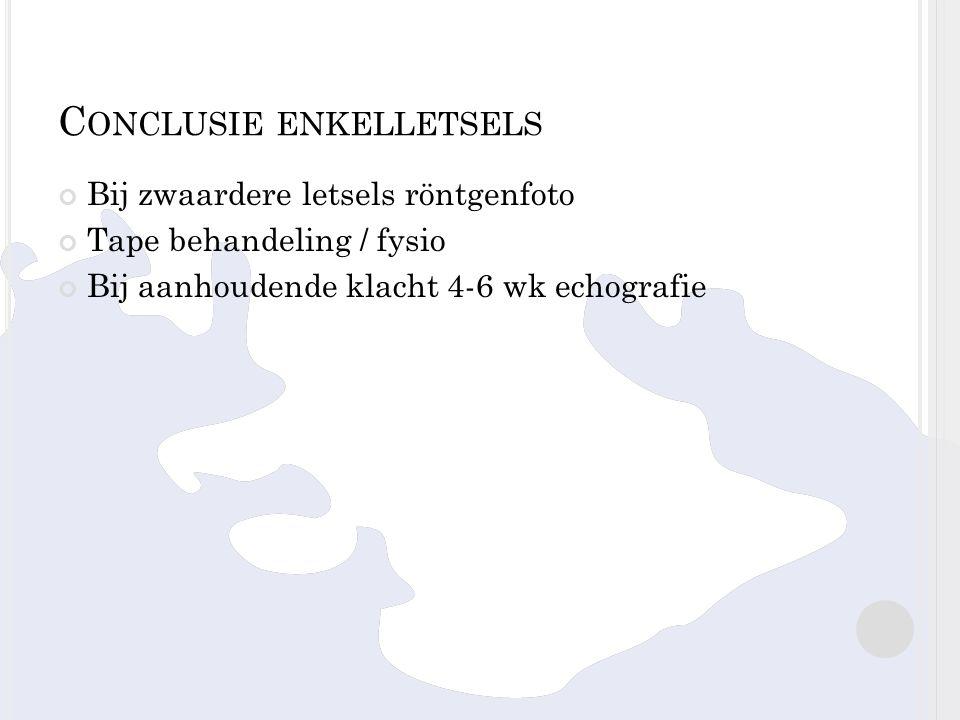 Conclusie enkelletsels