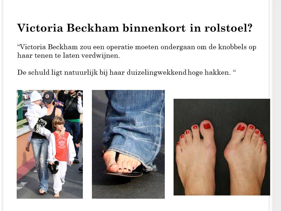 Victoria Beckham binnenkort in rolstoel