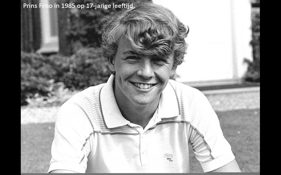 Prins Friso in 1985 op 17-jarige leeftijd.