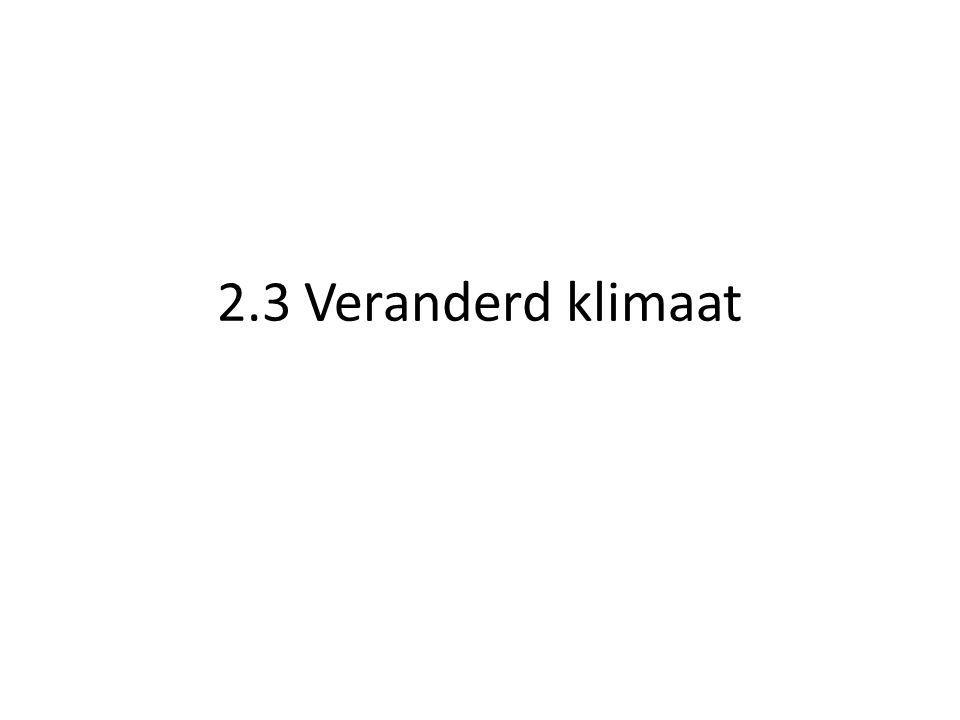 2.3 Veranderd klimaat