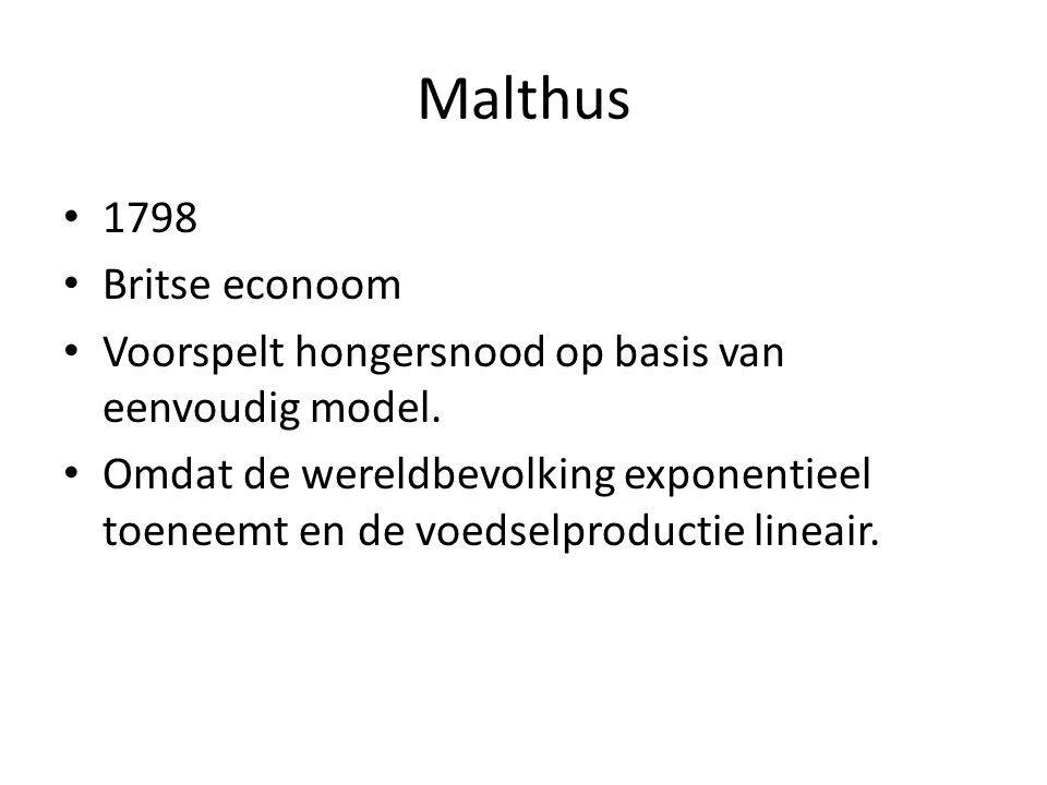 Malthus 1798 Britse econoom