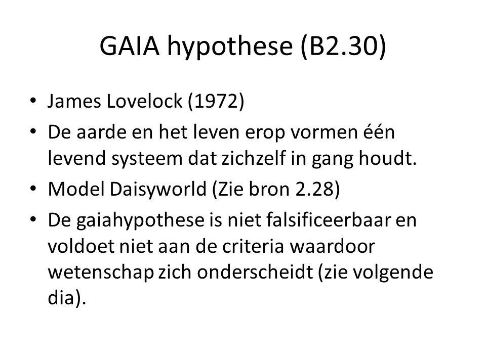 GAIA hypothese (B2.30) James Lovelock (1972)